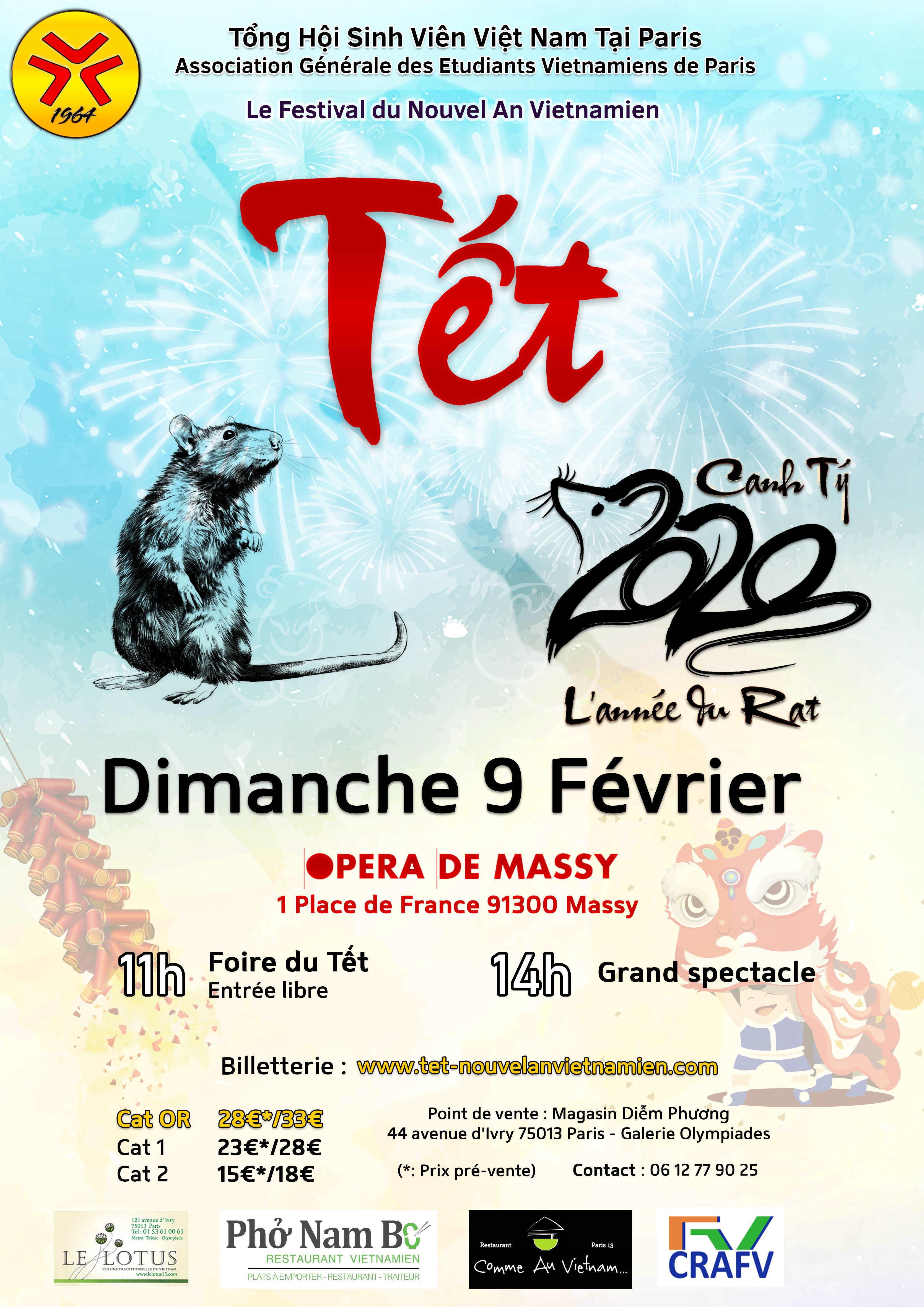 Affiche du Festival du Nouvel An Vietnamien Tết Canh Tý AGEVP 2020